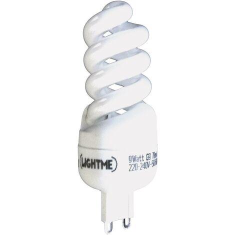 LightMe Energiesparlampe EEK: A (A++ - E) G9 92mm 230V 9W Warmweiß Spiralform 1St. S46015