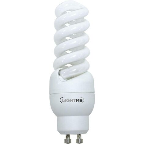 LightMe Energiesparlampe EEK: A (A++ - E) GU10 99mm 230V 11W = 46W Warmweiß Spiralform 1St. S46017