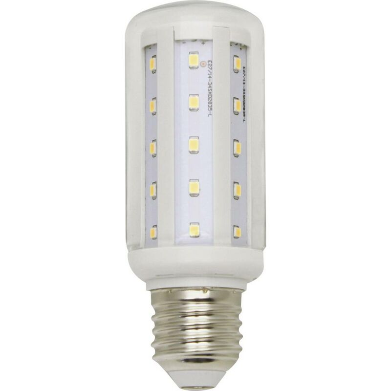 LightMe LED EEK A++ (A++ E) E27 Kolbenform 8W = 60W Warmweiß (Ø x L) 40mm x 112mm 1St. S146891