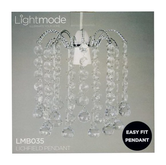 Image of Lightmode Lichfield Ball Droplet Pendant Ceiling Light Lampshade Clear LMB035