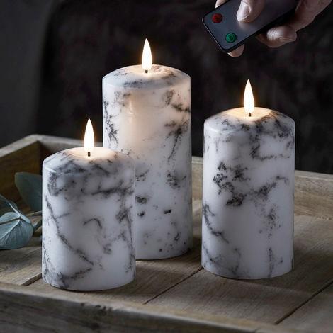 Bougies Pilier Blanc 6 x 4 cm Lot de 24
