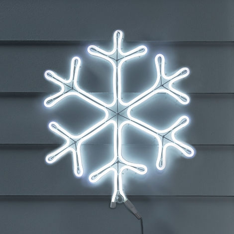 Lights4fun Décoration de Noël Néon Flocon de Neige pour Extérieur de 69cm