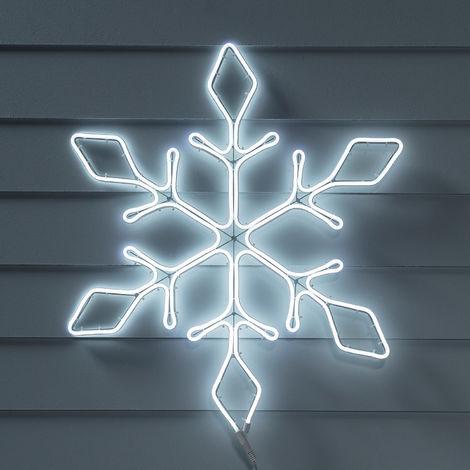 Lights4fun Décoration de Noël Néon Flocon de Neige pour Extérieur de 70cm