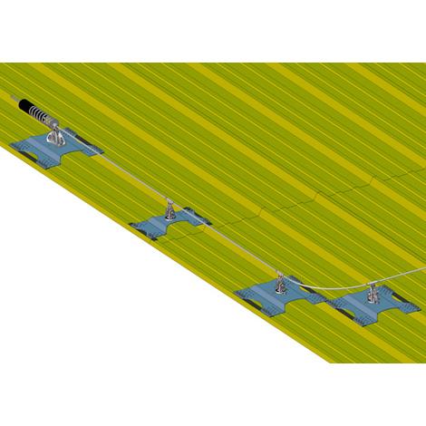 Ligne de vie - Fixation sur bac sec (plusieurs tailles disponibles)
