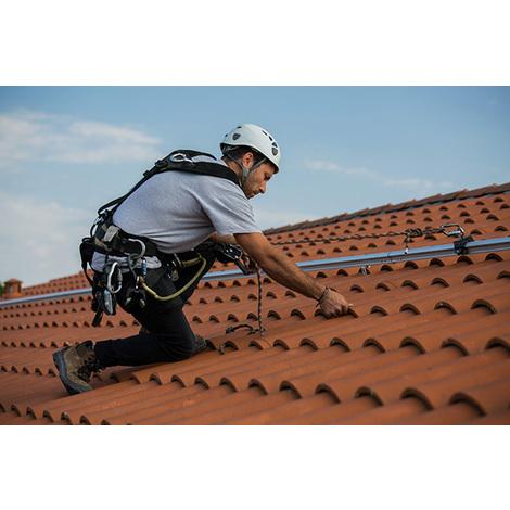 Ligne de vie horizontael à rail - Alu Standard - Fixation sur toiture tuiles ou ardoise (plusieurs tailles disponibles)