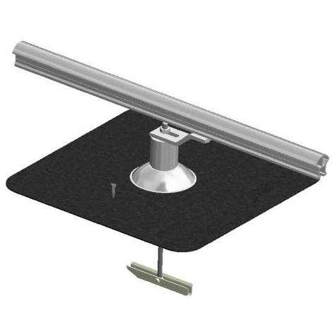Ligne de vie horizontale à rail - Fixation sur bac chaud (plusieurs tailles disponibles)