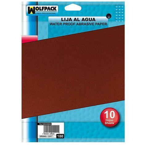 Pack 10 Pliegos Lija Hierro 1 Medio