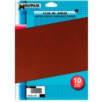 Lija Agua Grano 400 (Pack 10 Pliegos)
