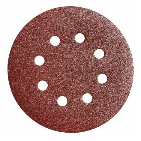 Lija recambio velcro disco Ø 125 mm. con agujeros grano 240 (10 Piezas)