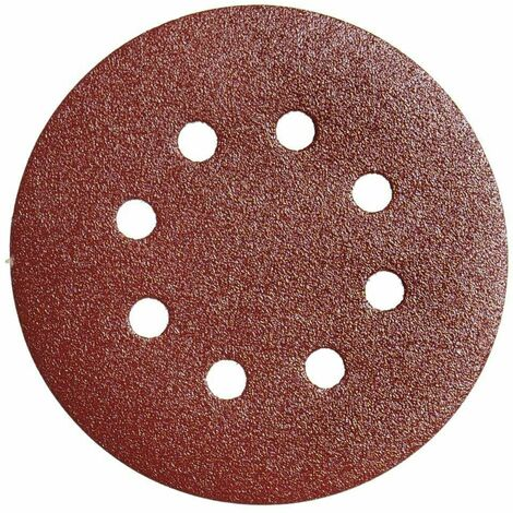 Lija recambio velcro disco Ø 125 mm. con agujeros grano 80 (10 Piezas)