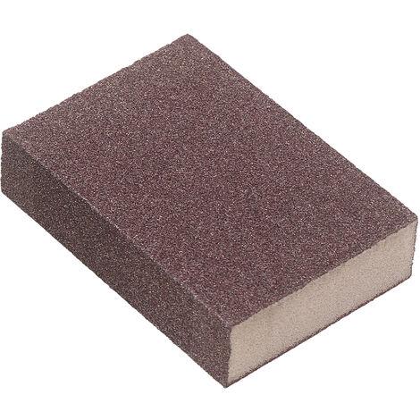 Lijado esponja reutilizable lavable bloque de lija de grano 240 Arena bloquea la esponja de metal de madera de 1 pedazo, Brown, 1 pieza