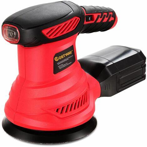 Lijadora con 12 Lijas/ 6 Velocidades /6000-13000 RPM / 300W /con Extracción de Polvo Máquina para Lijar Ideal para Trabajos de Bricolaje