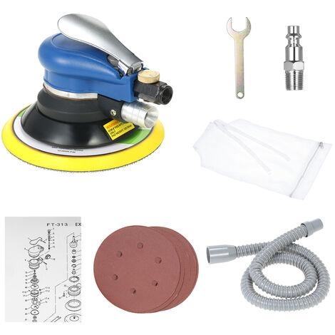 Lijadora de aire neumatica de doble accion de 6 pulgadas y 10000 RPM, herramienta para el cuidado de la pintura del automovil