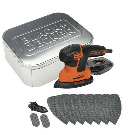 Lijadora de detalle mouse Black & Decker KA2000AT - 120 W con 10 accesorios + caja de lata