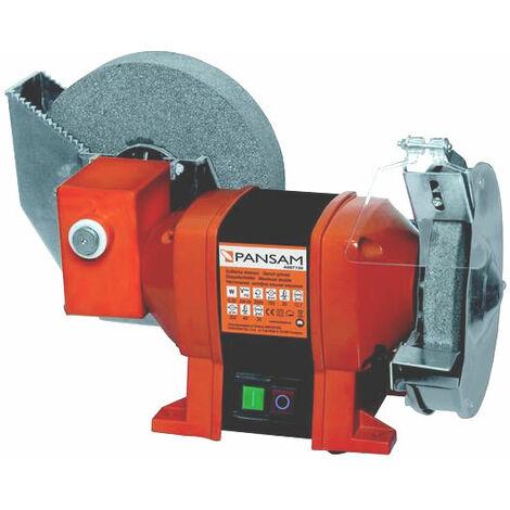 Lijadora de mesa 250 W discos 150x20x12,7mm, 200x40x20 (refrigerada con agua) interruptor electromagnético Pansam A067130