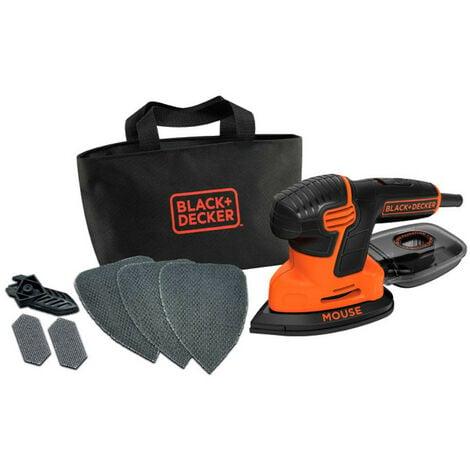 Lijadora detalle mouse Black&Decker KA2000 - 120w con 3 hojas de lija, 2 detalles de bolsa y transporte