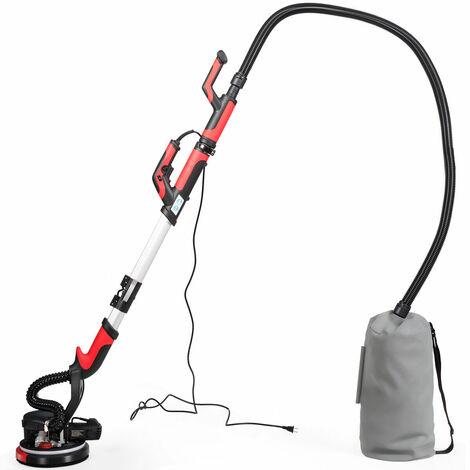 Lijadora Electrica de Pared de 750W Lijadora en Seco Profesional 900-1800 RPM con 6 Piezas Papel de Lija y LED Luz