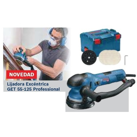 Lijadora excéntrica GET 55-125 Professional BOSCH 0601257001