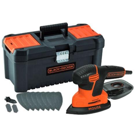 Lijadora Mouse 120w con 10 accesorios y caja herramientas Black+Decker KA2000KA10-QS