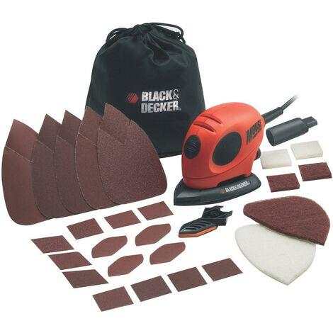 Lijadora Mouse Black+Decker 55W + bolsa y accesorios KA161BC-QS