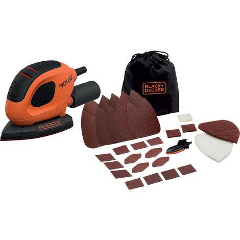 Lijadora Mouse Black&Decker BEW230BC-QS 55W+Bolsa+Accesorios