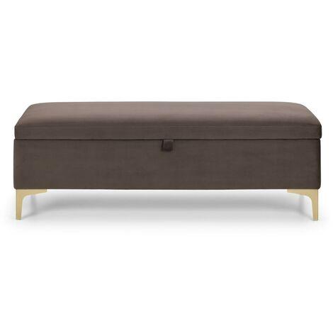 Lilly Bedroom Blanket Storage Bedding Box Truffle & Gold