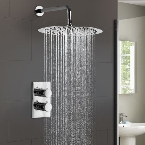 Lily 2 Dial 1 Way Round Set - Slim Shower Head