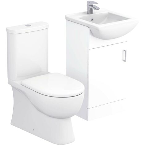 Lima 450mm Vanity Unit & Closed Back Toilet Suite