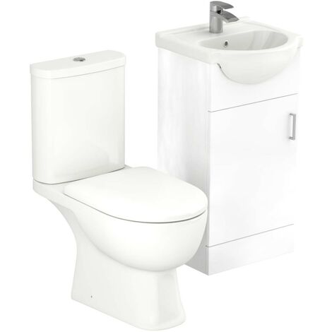 Lima 450mm Vanity Unit & Open Back Toilet Suite