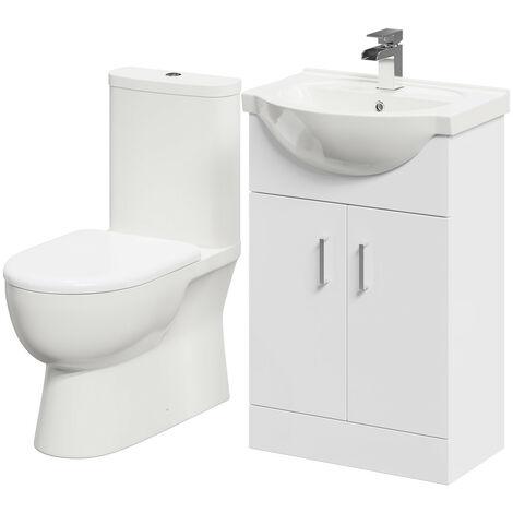Lima 550mm Vanity Unit & Closed Back Toilet Suite