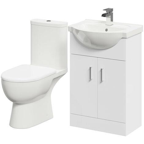 Lima 550mm Vanity Unit & Open Back Toilet Suite