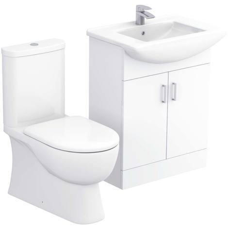 Lima 650mm Vanity Unit & Closed Back Toilet Suite