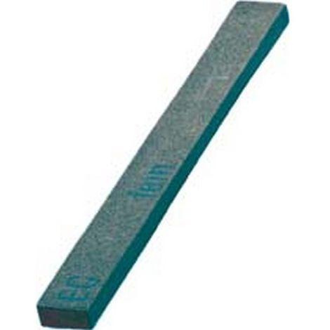 Lima abrasiva de carburo de silicio, cuadrada, dimensiones : 6 x 3 x 100 mm, Grano 220