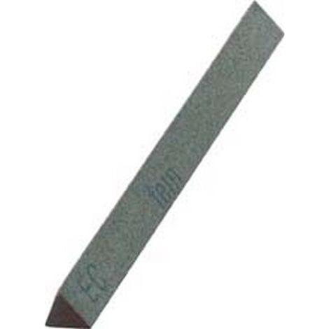 Lima abrasiva de carburo de silicio, triangular, dimensiones : 10 x 100 mm, Grano 220