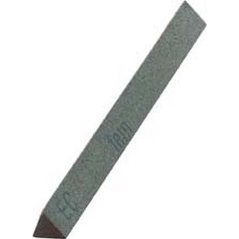 Lima abrasiva de carburo de silicio, triangular, dimensiones : 8 x 100 mm, Grano 360