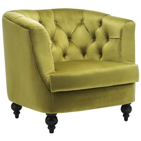 Lime Green Velvet Sofa Chair