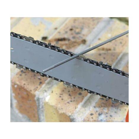 Lime ronde en acier (x3) pour affuter chaine de tronconneuse 4 mm