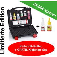 """Limitierte Edition: HG Klebstoffkoffer XXL + Gratis HG Klebstoffset """"Schweißnaht aus der Flasche"""""""