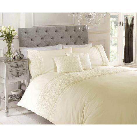 Limoge duvet cover & pillowcase set - Cream - double
