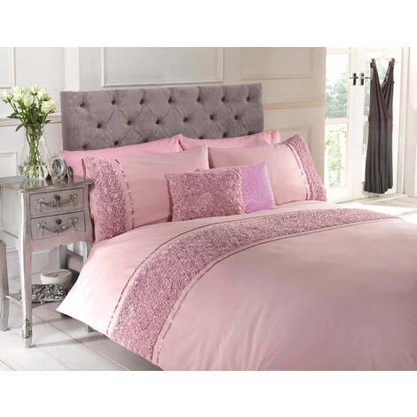 Limoge duvet cover & pillowcase set - pink - single