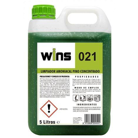 Limpiador amoniacal pino concentrado Wins 021. Envase 5 L.