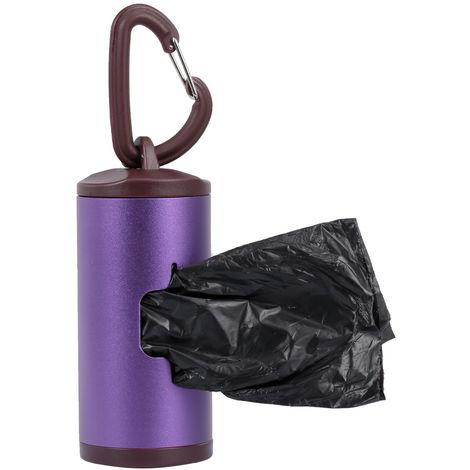 Limpiador de heces para perros,con 15 bolsas, purpura