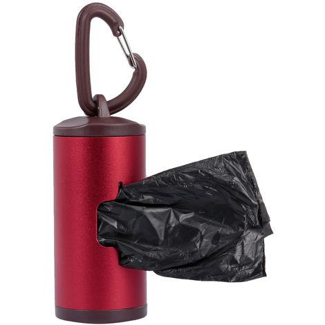 Limpiador de heces para perros,con 15 bolsas, rojo