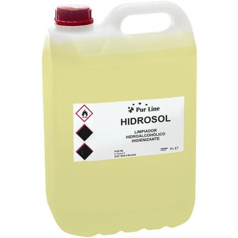 Limpiador hidroalcohólico higienizante multiusos con pulverizador garrafa de 5 Litro