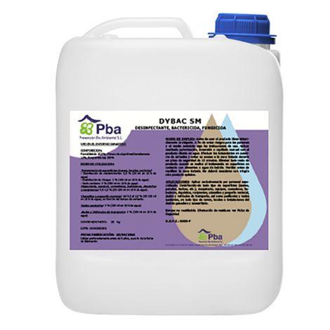 Limpiasuelos Multiuso Desinfectante, Bactericida, Fungicida DYBAC SM, Especial Superficies y Suelos, Maquinaria, Utensilios, Jaulas y Vehículos, Uso Entorno Ganadero - 5 kg