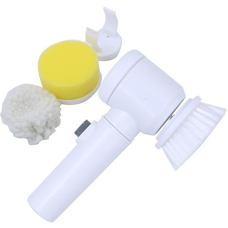 Limpieza del cepillo electrico 5-en-1 magia con pilas depurador de cocina bano de hidromasaje ducha Azulejos Alfombra Bide Sofa