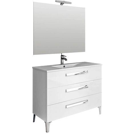 LINARES Conjunto mueble de baño Blanco 100 cm