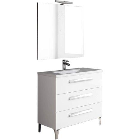 LINARES Conjunto mueble de baño Blanco 80 cm