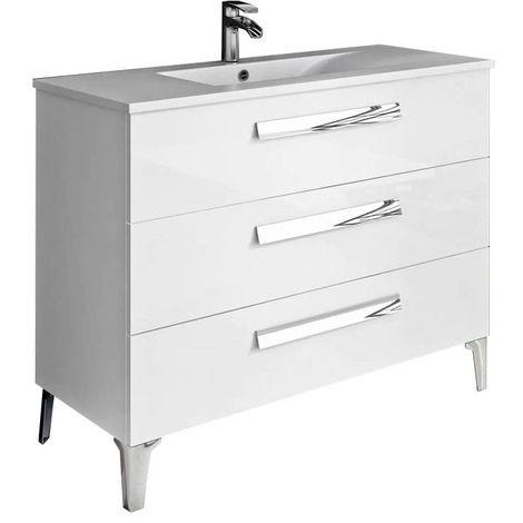 LINARES Mueble de baño Blanco 100 cm