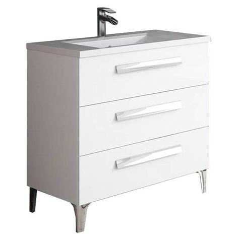 LINARES Mueble de baño Blanco 80 cm